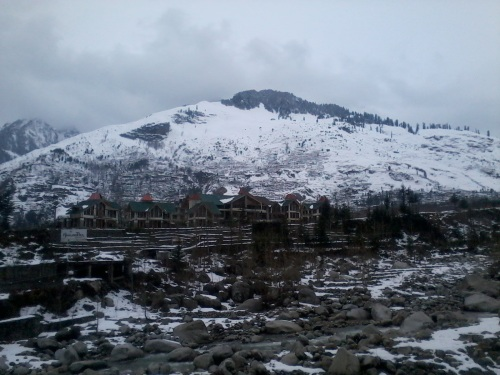 a place few miles from Manali, near solang valley.