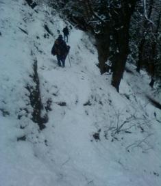 trekking to kheer ganga by vikas sharma.