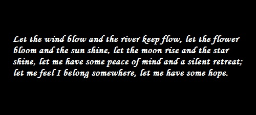 Quote - Let the Wind Blow