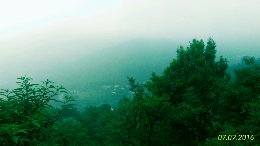 Mist over the mountains - just sharing a random picture from Dharamshala - a fine hill station.